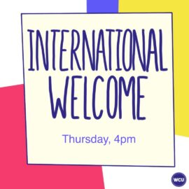 Welcome Week 2020: International Welcome Afternoon